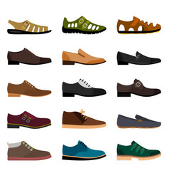 Men shoes collection vector