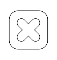 Multiplication symbol button isolated icon design vector
