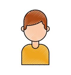 Portrait man repair assistance character work vector