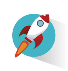 Rocket start marketing concept vector