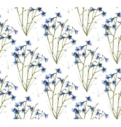 Romantic Wild Flowers Seamless Pattern vector image