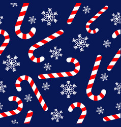 seamless pattern with candy canes vector image vector image