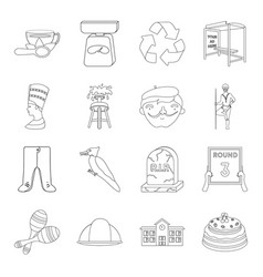 Sport miner education and other web icon in vector