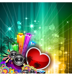 Valentines Day party invitation flyer vector image