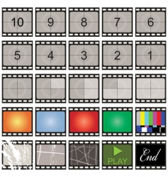 Film strip vector