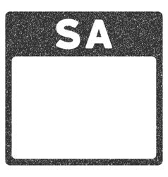 Saturday calendar page grainy texture icon vector