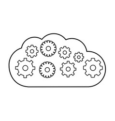 cloud weather line icon isolated vector image