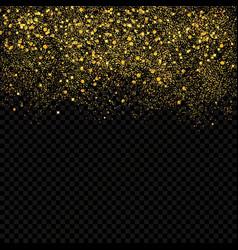 Gold sparkles confetti gold glitter abstract vector