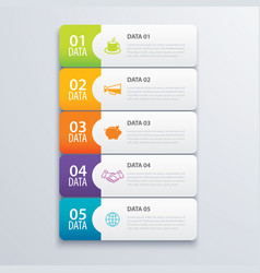 5 infographic tab index banner design and vector