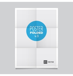 Poster three fold vector