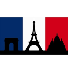 French design with paris flag vector