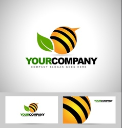 Bee logo design concept vector