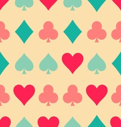 Playing cards pattern vector