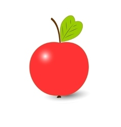 Red ripe apple isolated on a white background vector