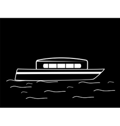 Water white black boat vector