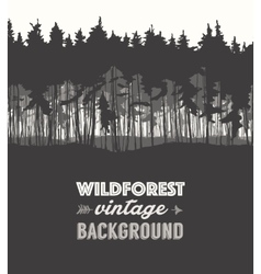Pine forest design templates vector