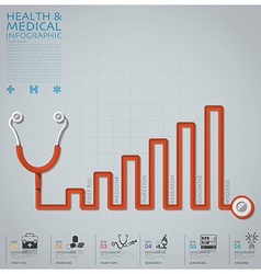 Line diagram stethoscope health and medical vector