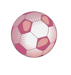 Ball for playing soccer in light pink tones vector