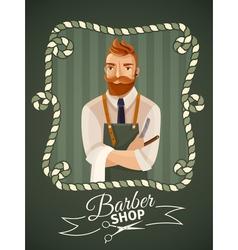 Barbershop poster template vector