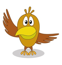Bird with pointing wing vector image