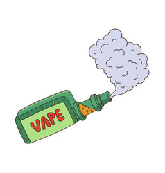 Cartoon vape smoking isolated vector