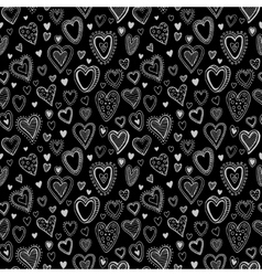 Chalk hearts sketch seamless texture vector