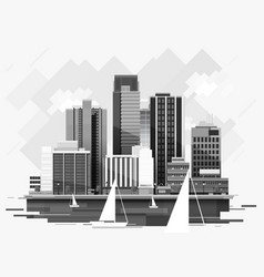 Cityscape background for your design urban art vector