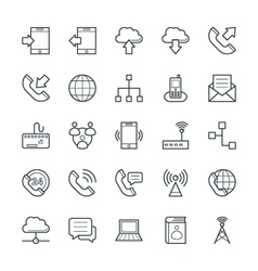 Communication cool icons 1 vector