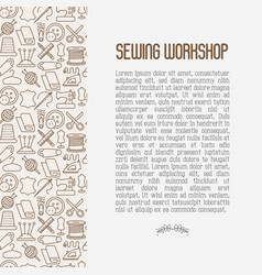Concept for sewing workshop vector