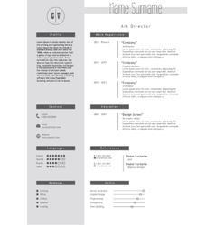 Creative resume template minimalist style vector