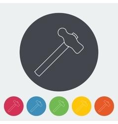Hammer flat icon vector