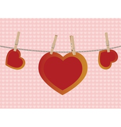 Heart on rope3 vector