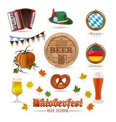 icons set for oktoberfest vector image