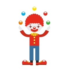 juggler clown with balls isolated icon design vector image