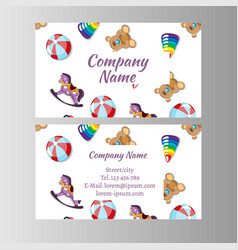 Kids store baby shop business card template vector