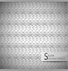 Lattice eyes grey vintage seamless pattern vector