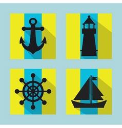 Naval icon set vector image vector image