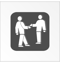Office web icon handshake succes deal symbol vector