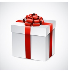 Realistic 3d gift box vector image