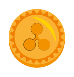 Ripple money golden coin vector