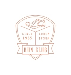 Run club red label design vector