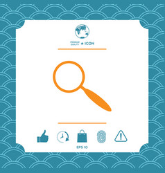 search symbol icon vector image vector image