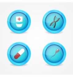set of medical icons on white background vector image