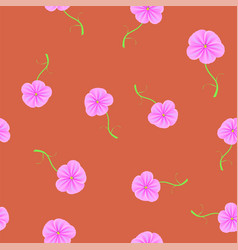 Spring flower seamless pattern vector