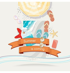 Summer is coming poster or card design vector
