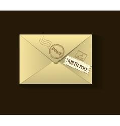 beige xmas envelope vector image
