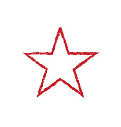 Red blood grunge star vector
