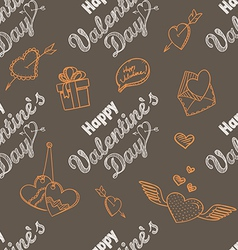 14th February seamless pattern vector image