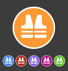 Life vest jacket icon flat web sign symbol logo vector
