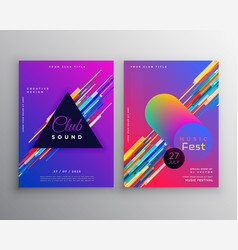 Abstract vibrant music party club flyer template vector